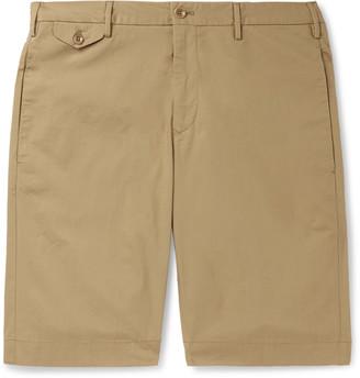 Incotex Slim-Fit Cotton-Blend Poplin Bermuda Shorts