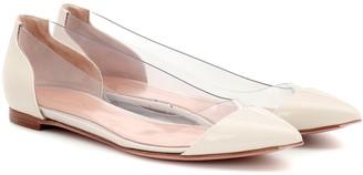 Gianvito Rossi Plexi leather ballet flats