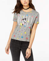 Mighty Fine Juniors' Mickey Mouse Star Graphic Boyfriend T-Shirt
