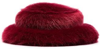 EMMA BREWIN Tonal Faux-Fur Bucket Hat