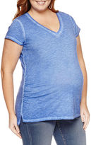 A.N.A a.n.a Short Sleeve V Neck T-Shirt-Womens Plus Maternity