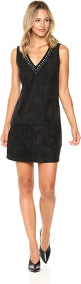 BB Dakota Women's Brayton Studded Faux Suede Dress