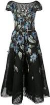 Marchesa floral flared dress