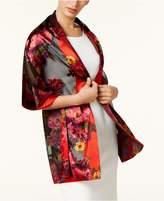 INC International Concepts I.N.C. Floral Satin Burnout Wrap, Created for Macy's