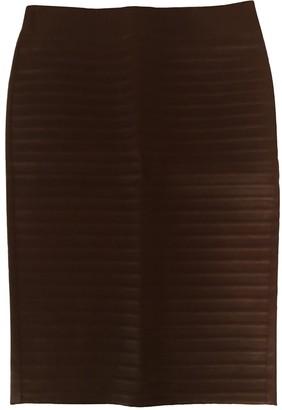 Brunello Cucinelli Brown Leather Skirt for Women