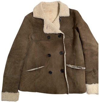 Swildens Khaki Shearling Jacket for Women