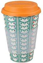 Cambridge Silversmiths CM04438 Retro Daisy Bamboo Eco Travel Mug, Orange, 9 x 9 x 13 cm