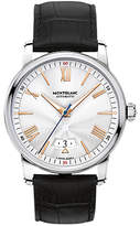 Montblanc 114841 4810 Automatic Date Alligator Leather Strap Watch, Black/silver