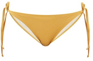 Solid & Striped The Iris Tie-side Lame Bikini Briefs - Womens - Gold