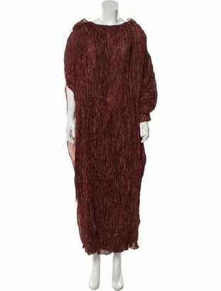 Rosie Assoulin Crush Pleated Maxi Dress