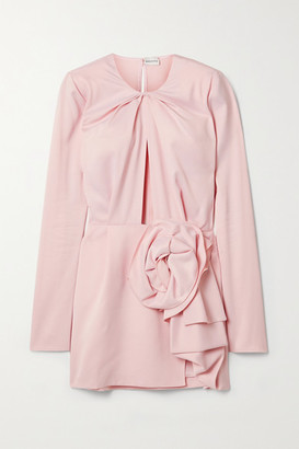 Magda Butrym Draped Cutout Crepe Mini Dress - Blush