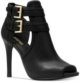 Michael Kors Michael Blaze Peep-Toe Dress Booties Women's Shoes