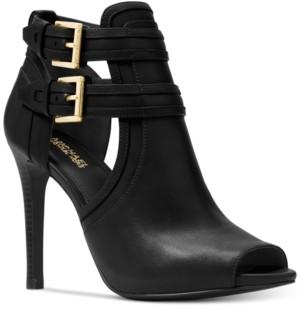 Michael Kors Michael Blaze Peep-Toe Dress Booties Women's Shoes