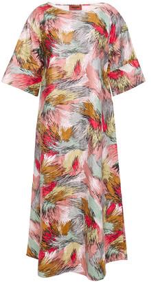 Missoni Printed Textured Vinyl Midi Dress