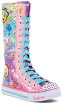 Skechers Shuffles Chattin Up Lace Boot Sneaker (Little Kid & Big Kid)