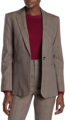 Frame Classic Plaid Wool Blend Blazer