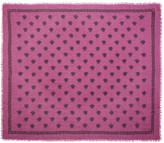 Versace Pink & Black Medusa Modal Scarf