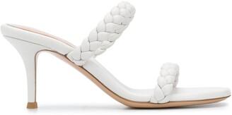 Gianvito Rossi Woven Strap Sandals