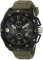 Diesel Men's DZ4396 Heavyweight Black Ip Green Silicone Watch