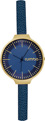 RumbaTime Midnight Blue Orchard Leather Watch