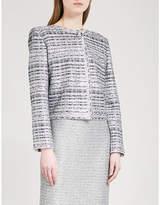 St. John Ribbon-knit metallic-tweed jacket