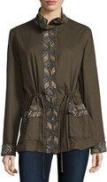 Haute Hippie Long Sleeve Embellished Eagle Jacket