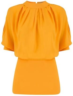 Klaudia Karamandi Violeta Yellow Slim-Fit Blouse