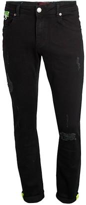 Rnt23 Distressed Denim Jeans
