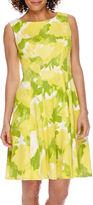 Tiana B Studio 1 Sleeveless Floral Fitand Flare Dress - Petite