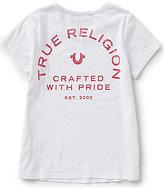 True Religion Big Girls 7-16 V-Neck Branded Logo Graphic Tee