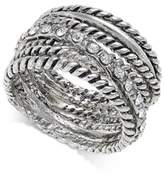 INC International Concepts I.N.C. Textured Pavé Statement Ring, Created for Macy's