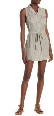 Blu Pepper Utility Stripe Patch Pocket Mini Dress