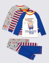 Marks and Spencer 3 Pack Printed Pyjamas (9 Months - 8 Years)