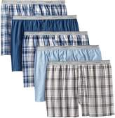 Fruit of the Loom Men's Big Exposed Waistband Woven Boxers