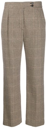 Nili Lotan Charlotte houndstooth straight-leg trousers