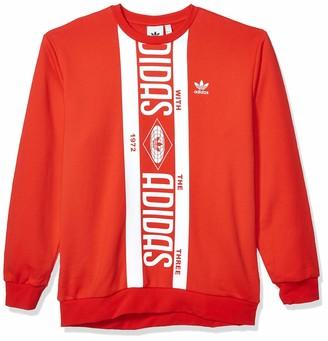 adidas Men's Print Scarf Crew Sweatshirt