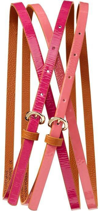 Old Navy Women's Plus Skinny Belt 2-Packs