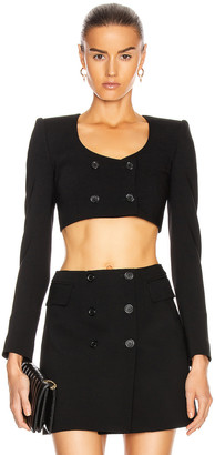 Dolce & Gabbana Crop Long Sleeve Jacket in Black | FWRD