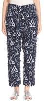 Chloé Women's Tie Waist Fringe Jacquard Crop Pants