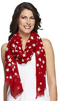 Joan Rivers Classics Collection Joan Rivers Patriotic Stars & Stripes Forever Scarf