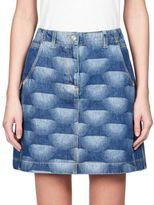 Kenzo Nagai Star Denim Skirt