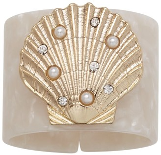 Joanna Buchanan Set of 4 Shell Resin Napkin Rings