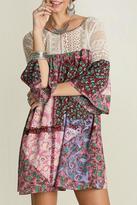 Umgee USA Paisley Patchwork Dress