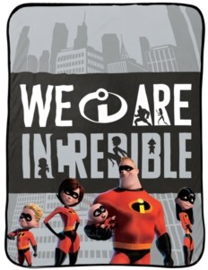 Disney Pixar The Incredibles Racing Throw Bedding