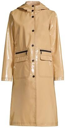 Jane Post Long Hooded Rain Jacket