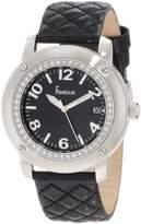 Freelook Women's HA1812-1 Leather Band Matt Dial Silver Case Watch