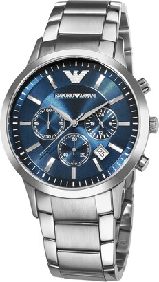 Emporio Armani Men's 'Classic' Blue Dial Chronograph Watch