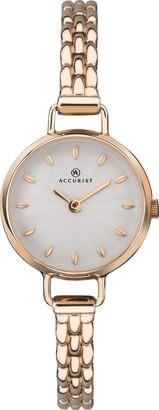 Accurist Womens Analogue Classic Quartz Watch with Brass Strap 8273