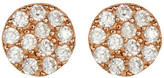 Argentovivo Rose Gold CZ Disc Earrings
