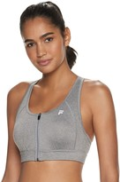Fila Sport Women's SPORT Zip Front Medium-Impact Sports Bra
